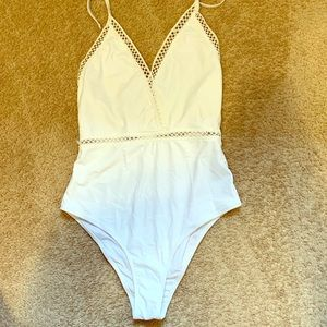 Cupshe white one piece bathing suit